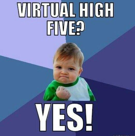 Virtual High Five Haha Funny Laugh Humor
