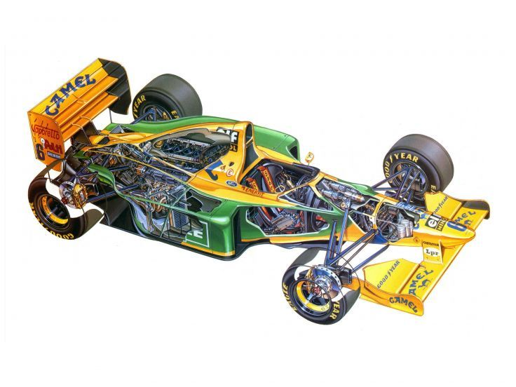 Benetton B193B 1993 Race Car Racing Supercar vehículo de Fórmula-1 4000x3000 (1)