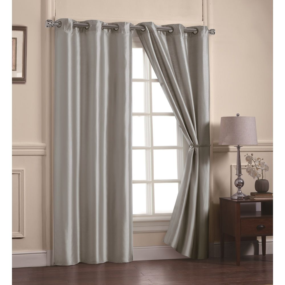 Victoria Classics Preston Faux Silk 84-inch Curtain Panel Pair - Overstock™ Shopping - Great Deals on Victoria Classics Curtains