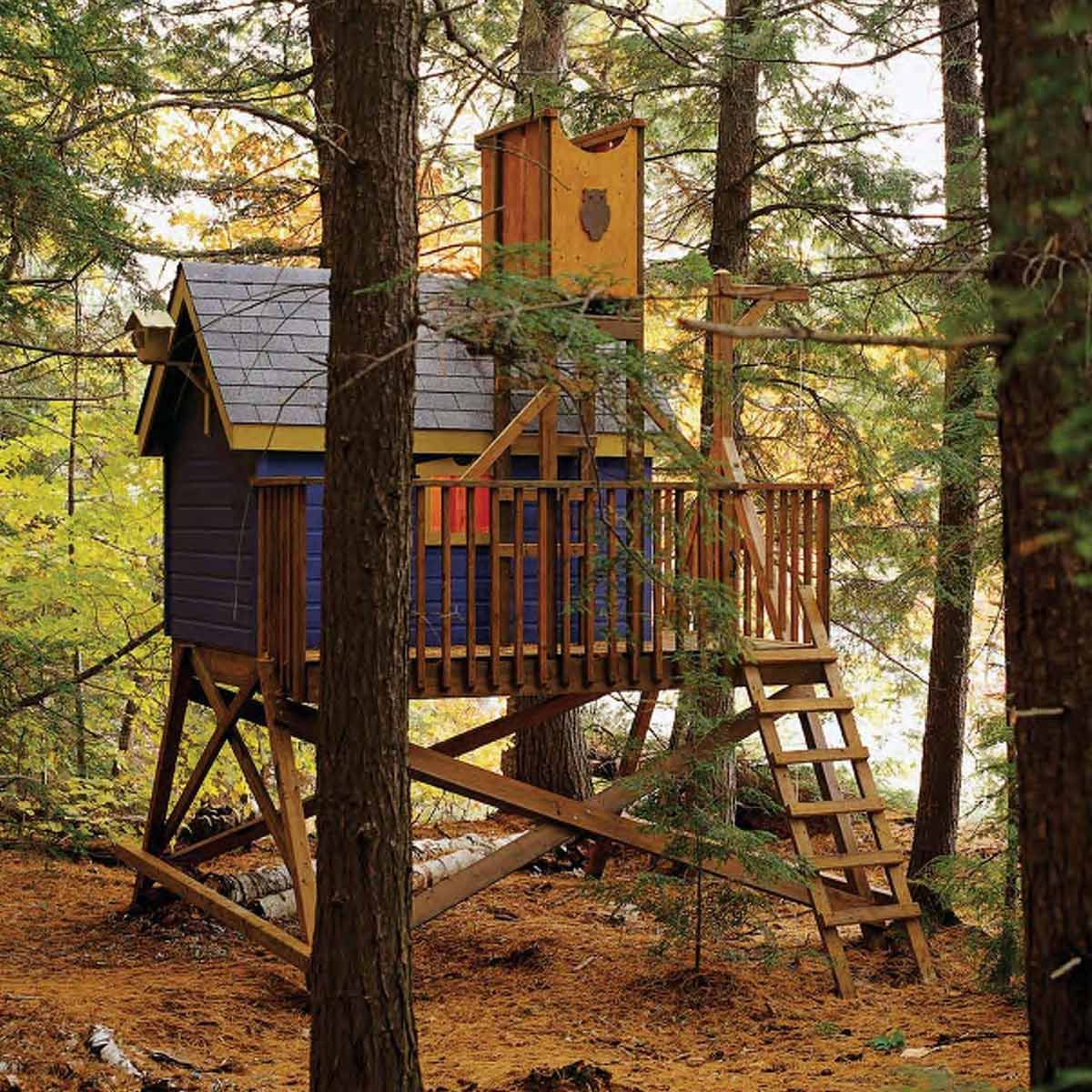 12 Awesome DIY Playsets for Kids of All Ages | Tree house ...