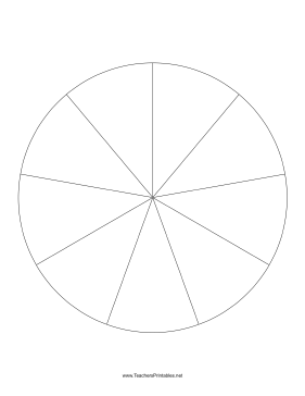 pie chart template 9 slices teachers printables free to download
