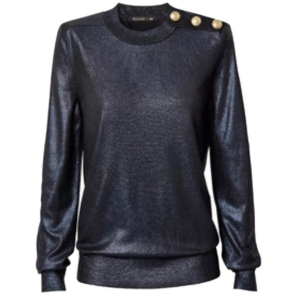 Pre-owned Balmain X H&m Glitter Sweater ($350) ❤ liked on ...