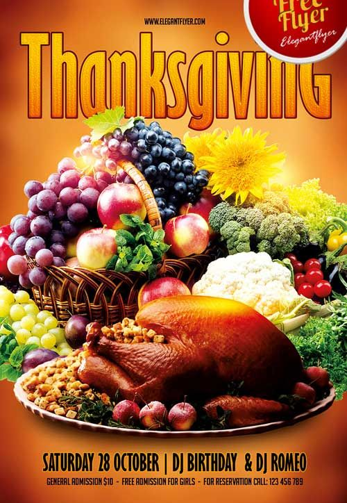 Free Thanksgiving Party Psd Flyer Template Httpfreepsdflyer