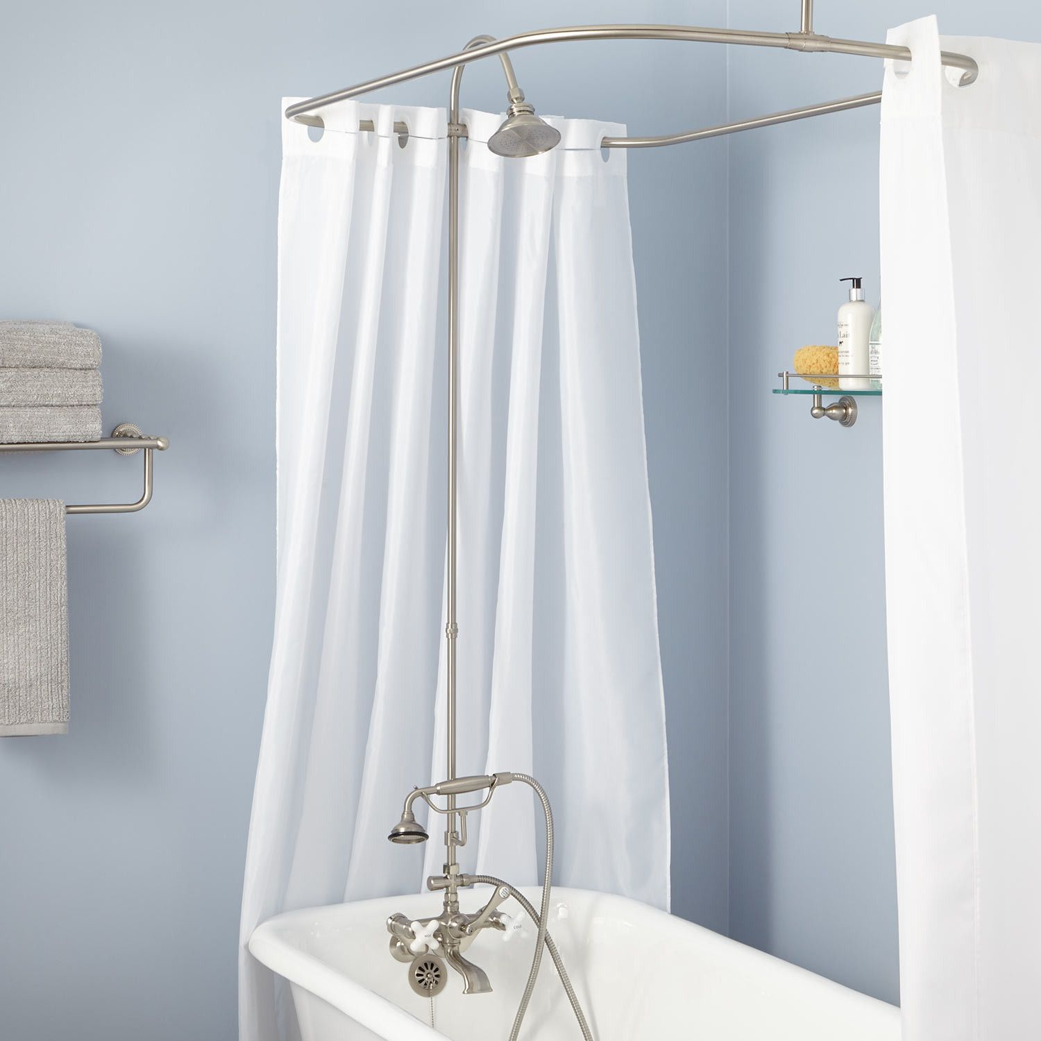 English Shower Conversion Kit With Hand Shower Brass Shower Head