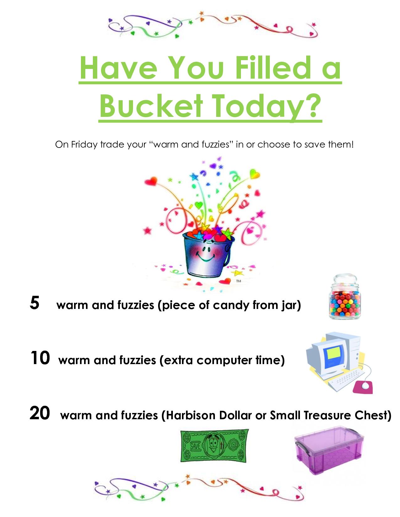 Have You Filled A Bucket Today Chart