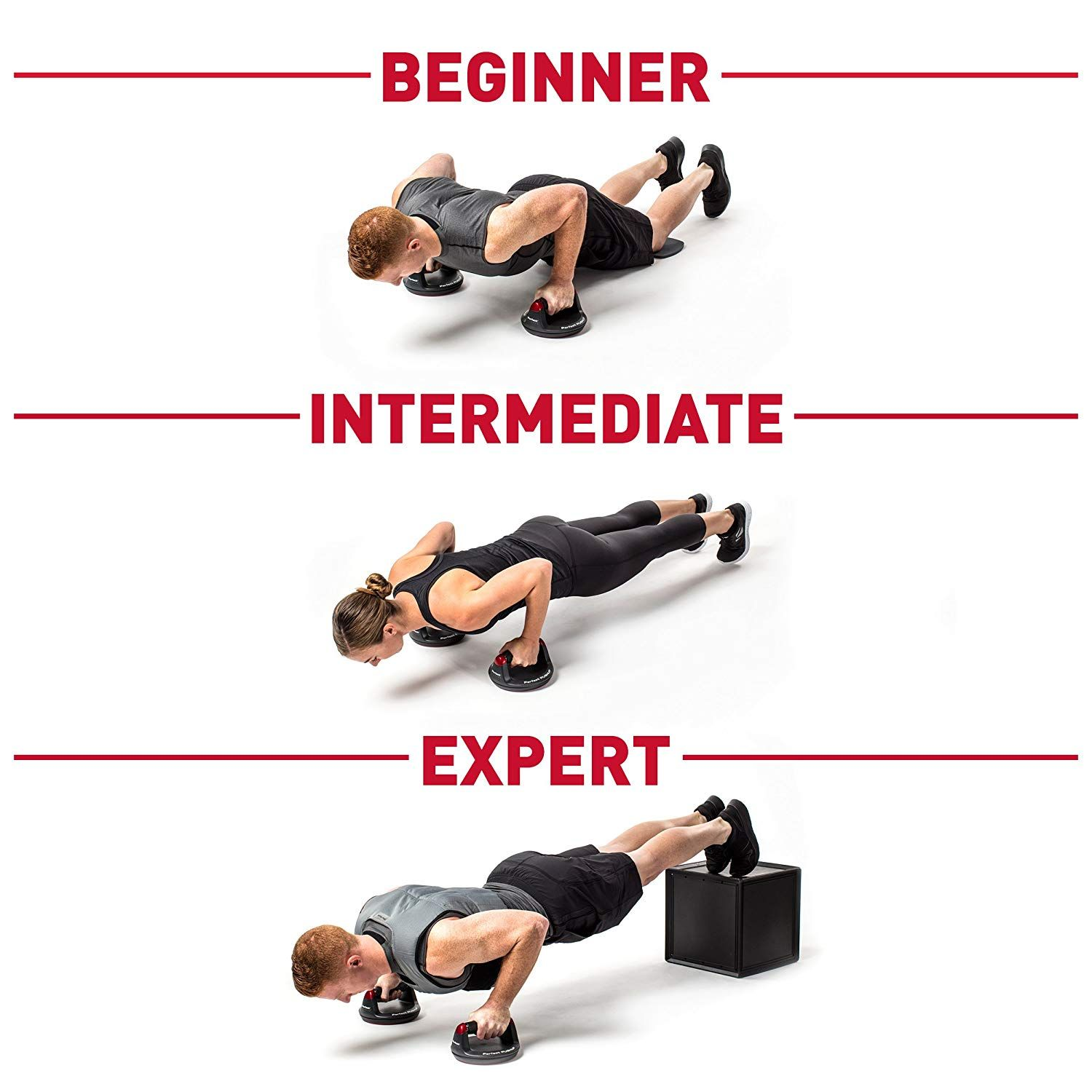 Pushup Stand Designed To Rotate Slightly Engaging More Muscles And Increasing Strength And Definition In Arms Shoulders Perfect Pushup Push Up Push Workout