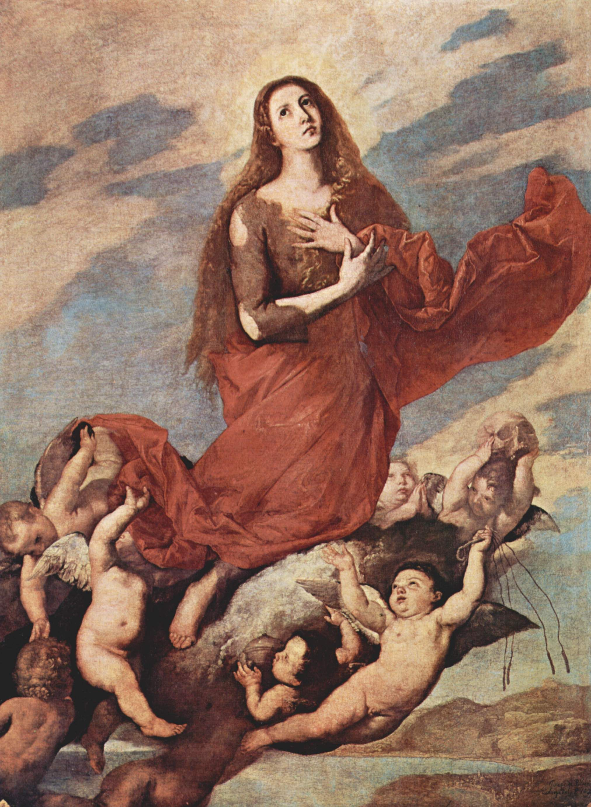 The Assumption of Mary Magdalene - Jusepe de Ribera