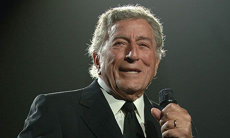 """Anthony Benedetto (8/3/26), better known as Tony Bennett, is an Italian-American singer of popular music, standards, show tunes, & jazz. He is also a serious & accomplished painter, having created works—under the name Anthony Benedetto. He is the founder of the Frank Sinatra School of the Arts in New York City.  In 1962, Bennett recorded his signature song, """"I Left My Heart in San Francisco""""."""
