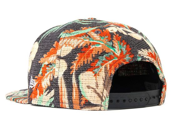 Tropical Square Logo Snapback Cap by LESS x NEW ERA