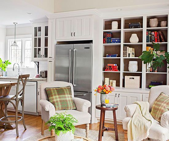 In LR Space This Combo Kitchen And Sitting Room Makes The Most Of Every Square Inch Thanks To A Savvy Remodel Old Was Closed Off