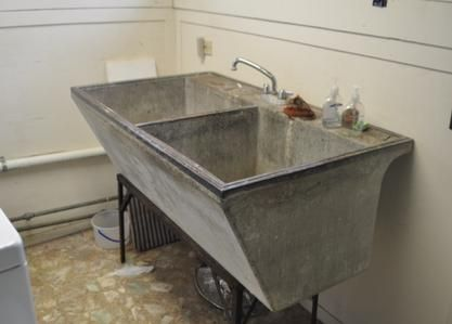 How to restore an old concrete laundry tub | Oxygen bleach, Paint ...