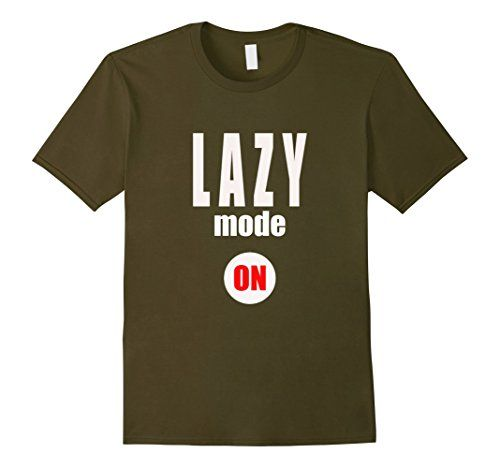 Men's Lazy Mode ON T Shirt- Lazy Shirt- Laziness Shirt 2X…