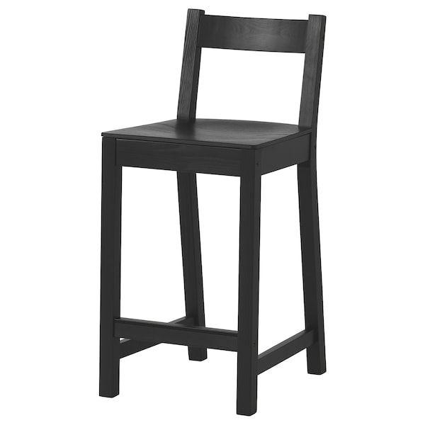 Nordviken Bar Stool With Backrest Black Width 15 3 4 Order Today Ikea En 2020 Tabouret De Bar Chaise Bar Ikea