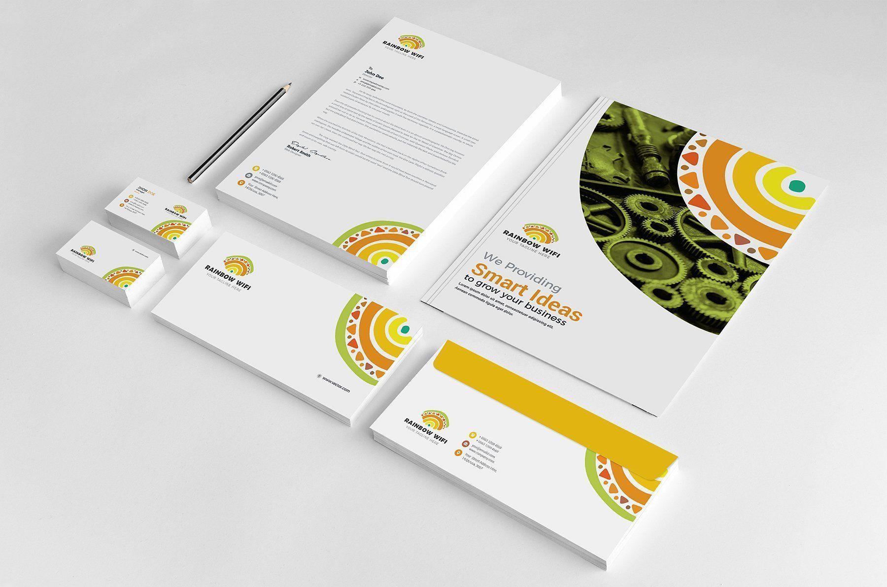 Business Card Letterhead Envelope