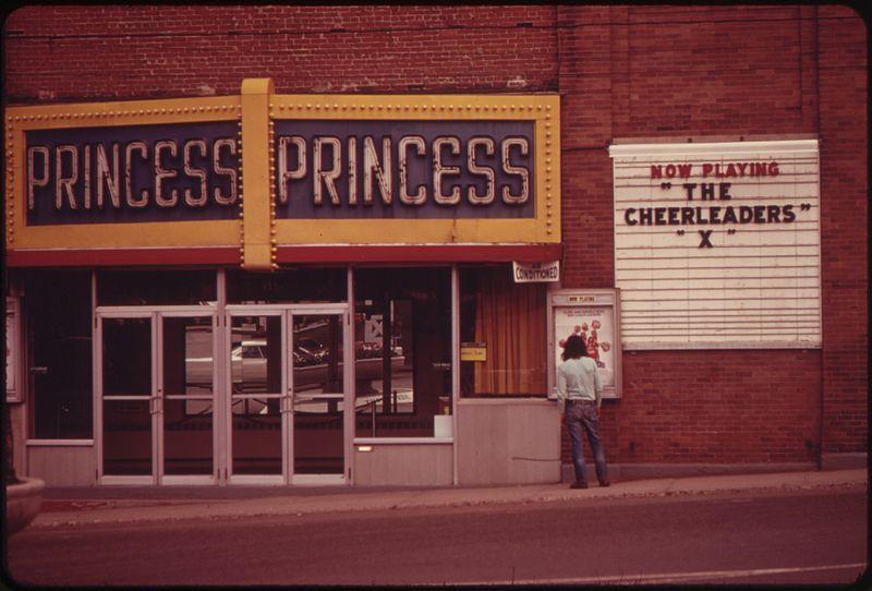 Princess Theatre, Berlin, NH. Sports movie, The