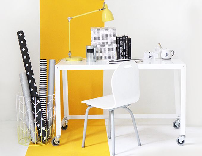 MY WORKSPACE | Yellow Stripe Wall | Home Project/ DIY\'s | Pinterest ...