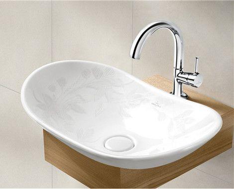 Villeroy Amp Boch My Nature Sink Flowers Moderne Waschbecken Waschbecken Modernes Badezimmer