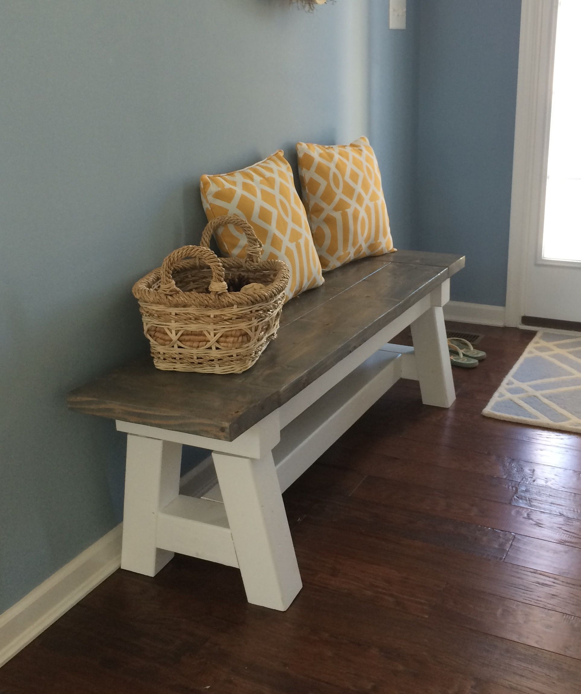 Farmhouse bench woodworking plans woodshop plans - Beach Bench Do It Yourself Home Projects From Ana White Farmhouse Benchfarmhouse Furniturewhite