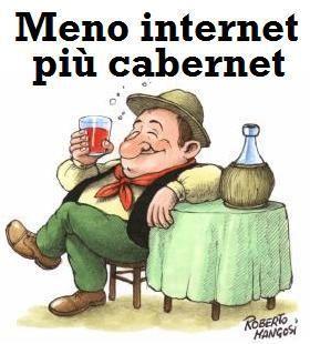 Meno internet e più cabernet
