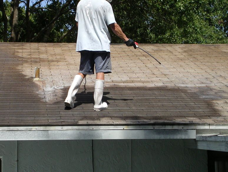 High pressure roofcleaning though is not suitable for