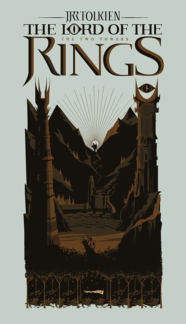 The Lord of the Rings Trilogy Fanarts by blue Rain, via Behance