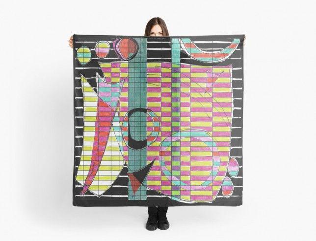 Spreadsheet Tango scarf by Helen Bushell on Red Bubble