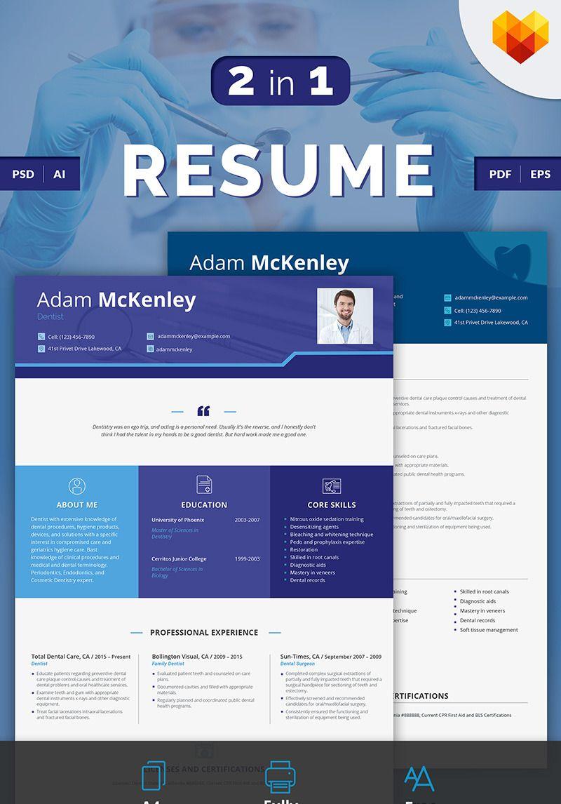 Adam mckenley dentist resume template 66433 resume