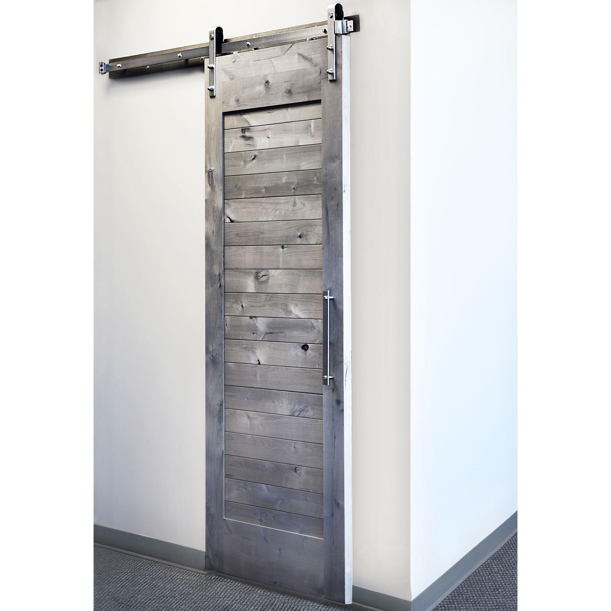 Kitchens · Sure Loc Satin Nickel Barn Door Hardware ...