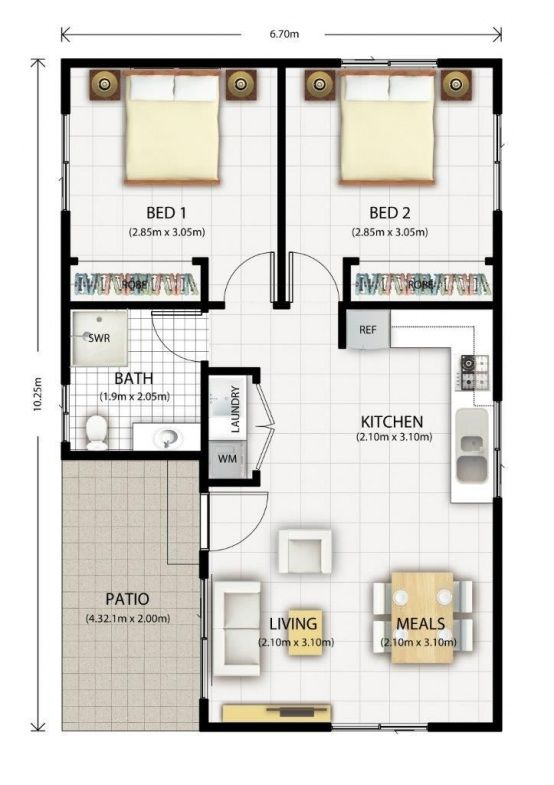 Plans De Maison Gratuit Plan Pdf 1 4 Chambres Lzzy Co 5 Moderne