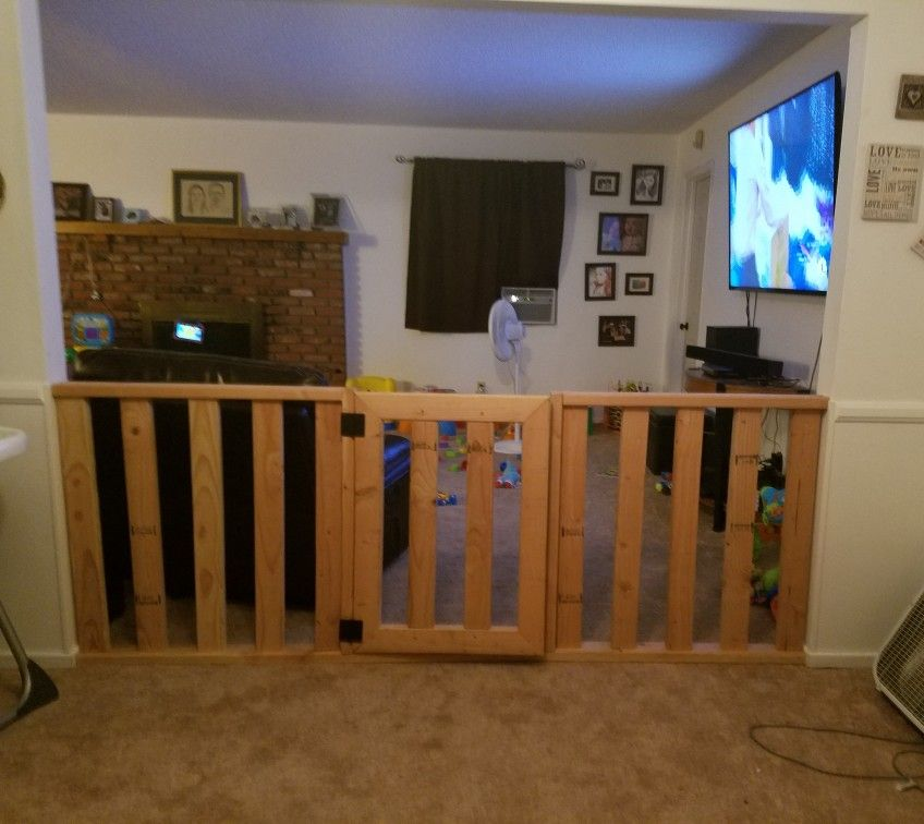 Homemade Baby Gate Hubby Created For Our Extra Wide Doorway