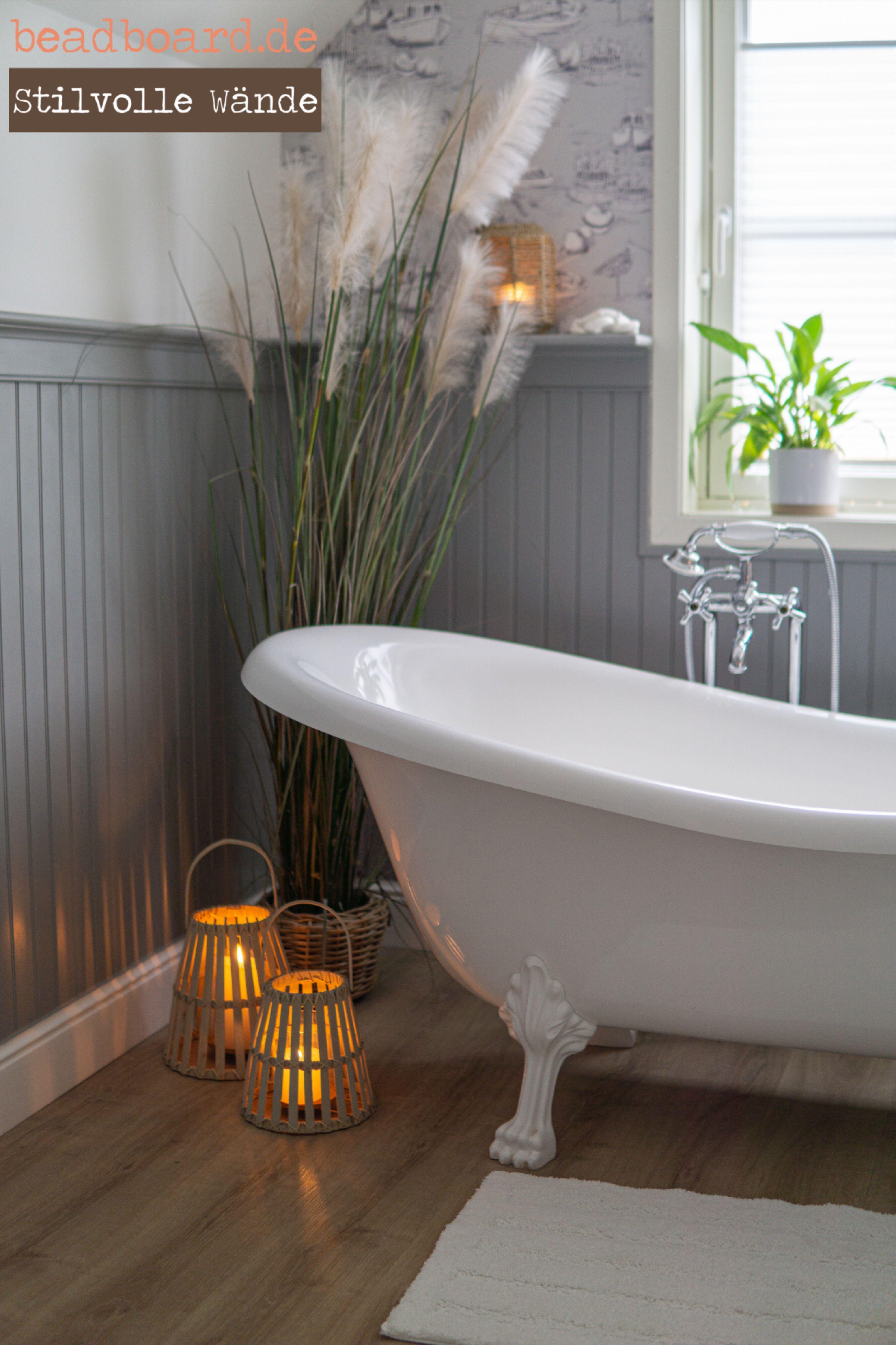 Landhaus Badgestaltung mit Paneelen   Haus, Haus deko, Bad einrichten