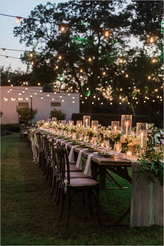Lovely Natural Garden Wedding Backyard Wedding Outdoor Wedding Wedding Lights