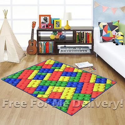 Whizz Kids Lego Building Blocks Fun Floor Rug S