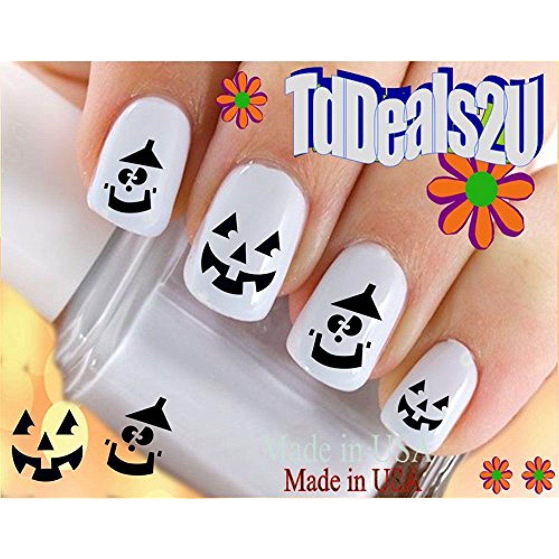Holiday Halloween Smiley Pumpkin Face Nailartaccessories Nail