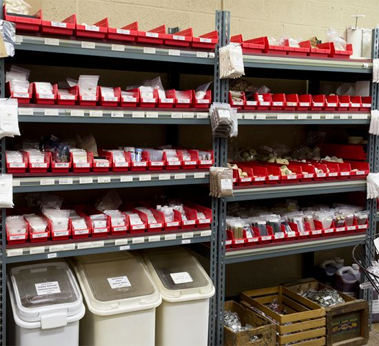shelf bins are a great looking way to organize your retail environment - Akro Mils