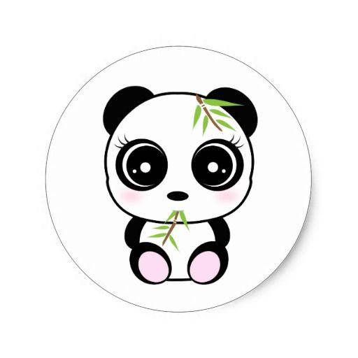 Adorable Little Panda Eating Panda Pocket Classic Round Sticker Zazzle Com Cute Panda Drawing Panda Art Cute Panda Cartoon