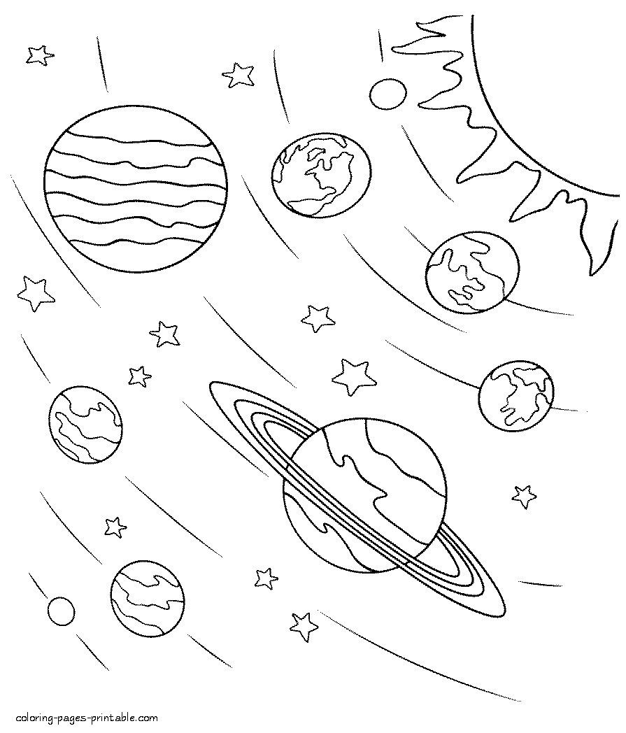 Lovely Solar System Coloring Sheets Planet Coloring Pages Space Coloring Pages Solar System Coloring Pages