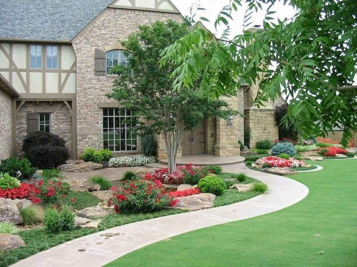 60 Stunning Low Maintenance Front Yard Landscaping Design ... on Front Yard Renovation Ideas id=72271
