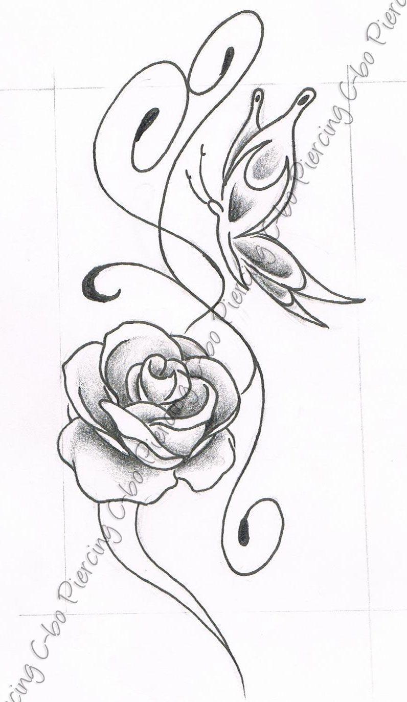 Dessin fleurs de lys dessin dessin papillon fleur - Dessin de fleur facile ...