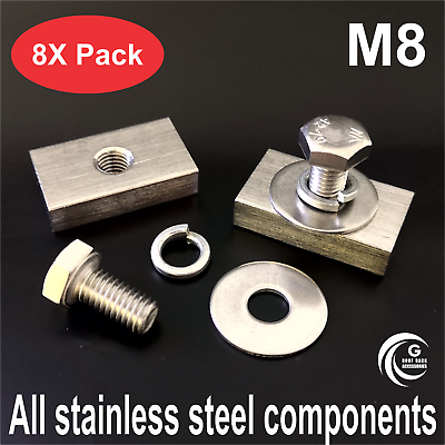 Fastener Bolt Nut Kit For Rhino Pioneer Platform Roof Rack Stainless Steel M8 X8 In 2020 Steel Awning Accessories Stainless Steel