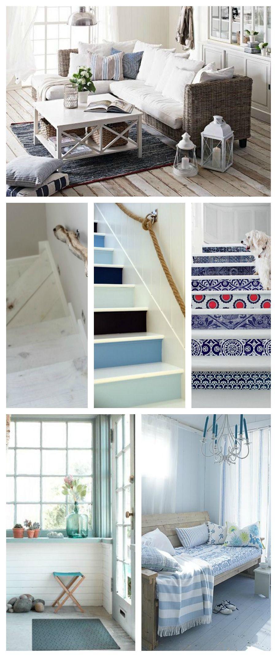 Pavimenti per la casa al mare legno chiaro e decorazioni case mare interni pinterest - Pavimenti per casa al mare ...