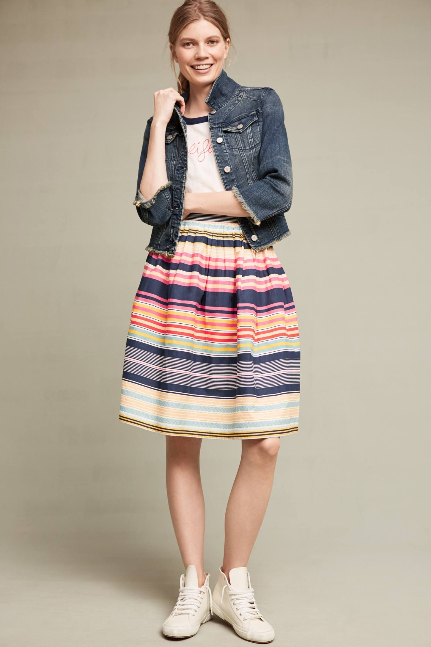 7fc86dee501 Slide View: 1: Nordic Stripes Skirt   to wear   Stripe skirt, Skirts ...