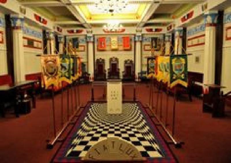 Inside the Masonic Lodge in 2020 Masonic lodge