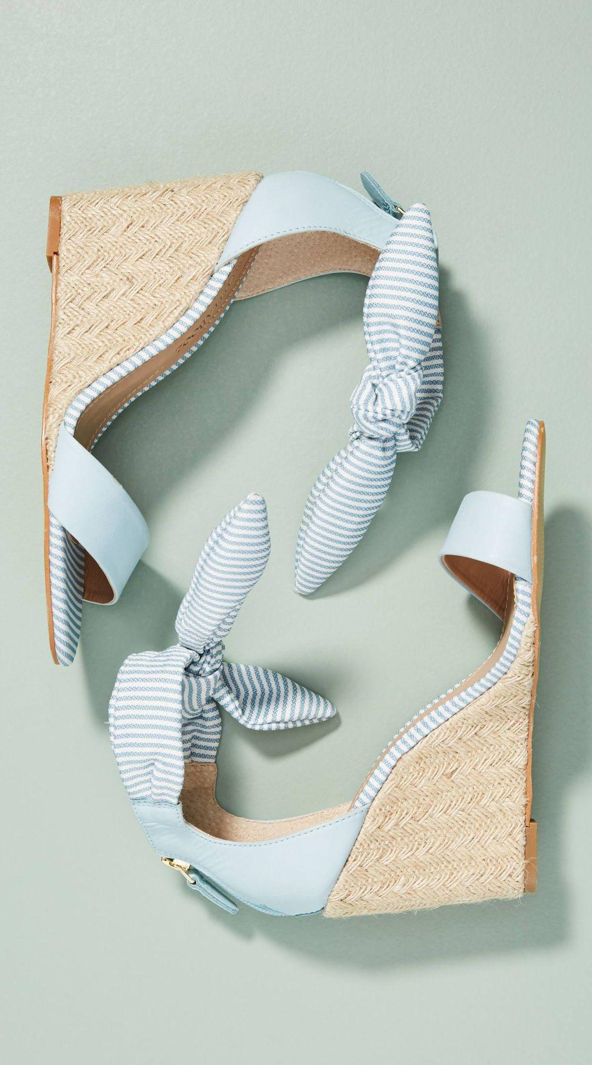 Raphaella Booz Bow Wedge Sandals Shoes Shoes Heels