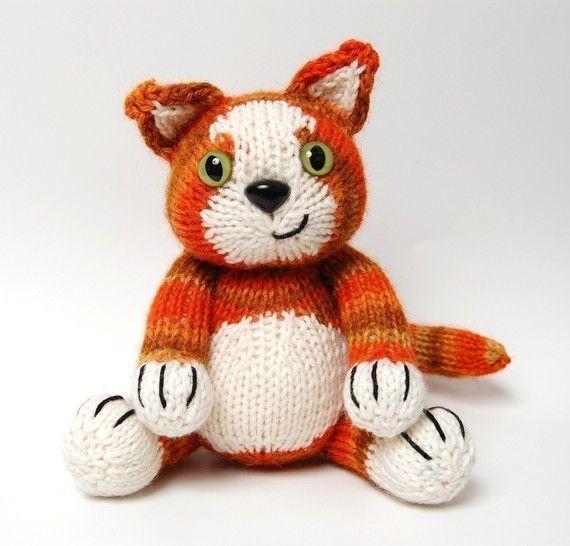 lindo gato | Knitting toys | Pinterest | Lindo, Gato y Gatos de peluche