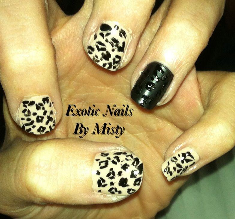 Cheetah nails | Exotic Nails Hand painted nail art | Pinterest ...