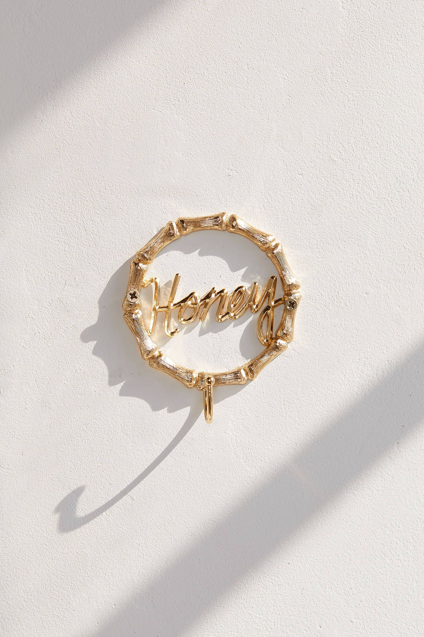 Honey Bamboo Metal Hook is part of Metal Home Accessories Living Rooms - Shop Honey Bamboo Metal Hook at Urban Outfitters today  Discover more selections just like this online or instore   Shop your favorite brands and sign up for UO Rewards to receive 10% off your next purchase!