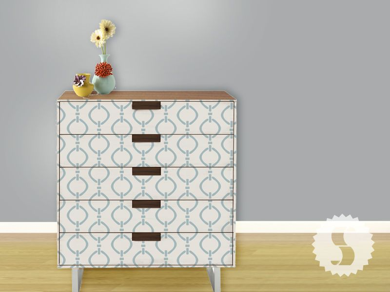Creative Ways To Use Removable Wallpaper On Furniture Swagpaper Furniture Makeover Decor Wallpaper Furniture