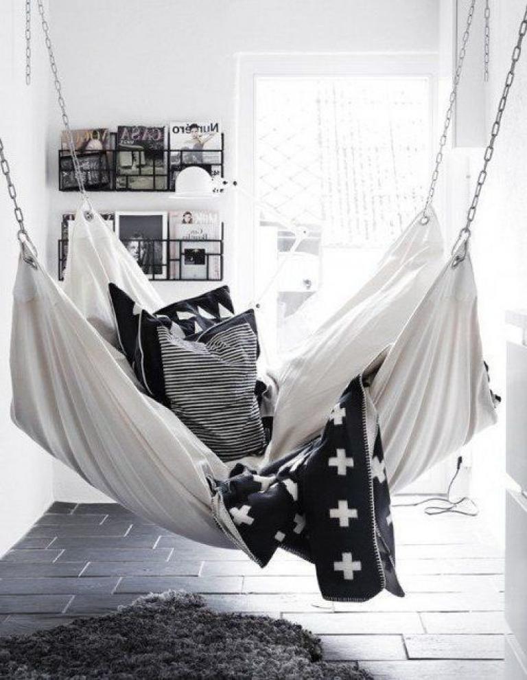 Simple And Cozy Indoor Hammock Bed Hammock In Bedroom Indoor