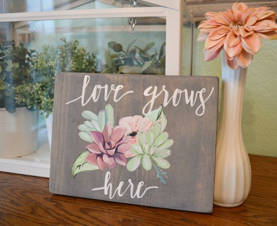 Wooden valentine welcome sign by CooperChicBoutique on ... |Valentine Hand Painted Wood Signs